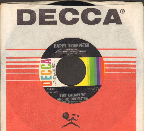 Kaempfert, Bert & His Orchestra - The Happy Trumpeter/Tootie Flutie (with Decca company sleeve) - NM9/ - 45 rpm Records