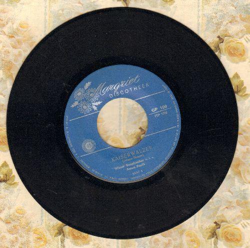 Wiener Symphoniker, Anton Paulik - Kaiserwalzer/An der schoenen blauen Donau (Dutch Pressing) - EX8/ - 45 rpm Records