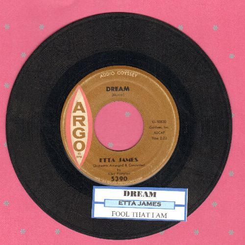 James, Etta - Dream/Fool That I Am (with juke box label) (wol) - VG7/ - 45 rpm Records