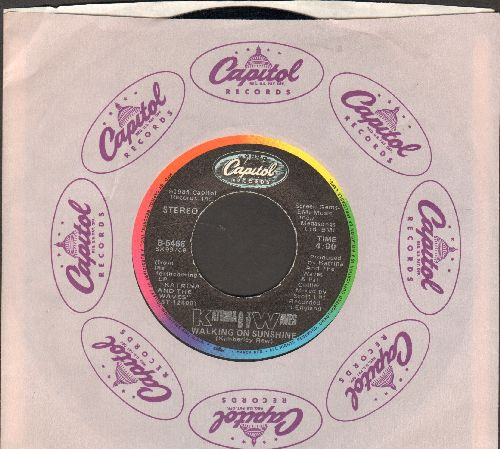 Katrina & The Waves - Walking On Sunshine/Going Down To Liverpool (with Capitol company sleeve) - EX8/ - 45 rpm Records