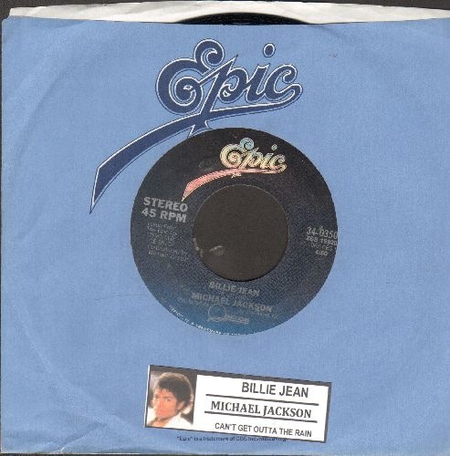 Jackson, Michael - Billie Jean/Can't Get Outta The Rain (with Epic company sleeve) - NM9/ - 45 rpm Records