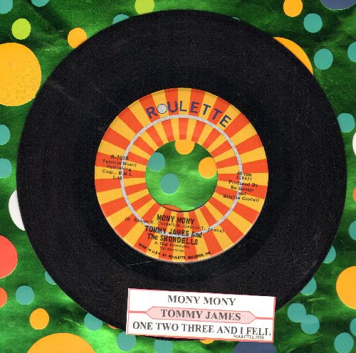 James, Tommy & The Shondells - Mony Mony (PARTY FAVORITE!)/One Two Three And I Fell (with juke box label) - NM9/ - 45 rpm Records