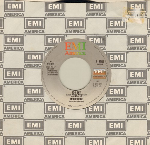 Kajagoogoo - Too Shy/Take Another View (with EMI company sleeve) - EX8/ - 45 rpm Records