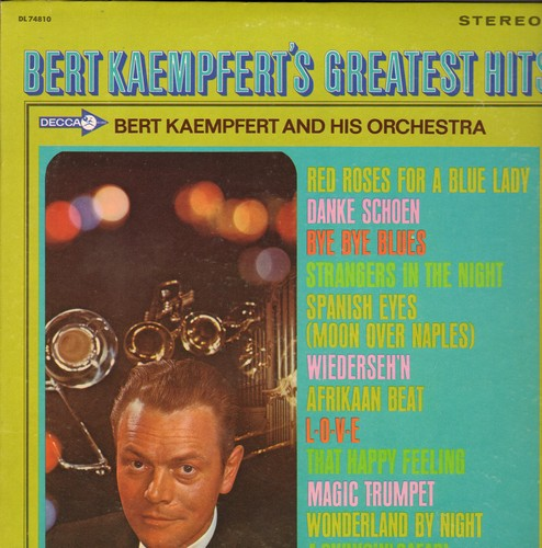 Kaempfert, Bert & His Orchestra - Bert Kaempfert's Greatest Hits: Spanish Eyes (Moon Over Naples), Danke Schoen, A Swingin' Safari (Vinyl STEREO LP record) - NM9/EX8 - LP Records