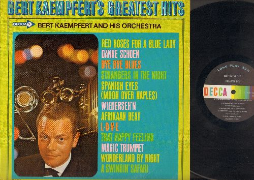 Kaempfert, Bert & His Orchestra - Bert Kaempfert's Greatest Hits: Spanish Eyes (Moon Over Naples), Danke Schoen, A Swingin' Safari (Vinyl Mono LP record) - NM9/EX8 - LP Records