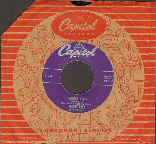 Katz, Mickey - Herring Boats/Sin (with Capitol company sleeve) - VG7/ - 45 rpm Records