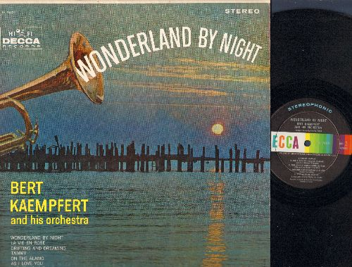 Kaempfert, Bert & His Orchestra - Wonderland By Night: Tammy, La Vie En Rose, Stay With Me, Lullaby For Lovers (vinyl STEREO LP record) - NM9/NM9 - LP Records