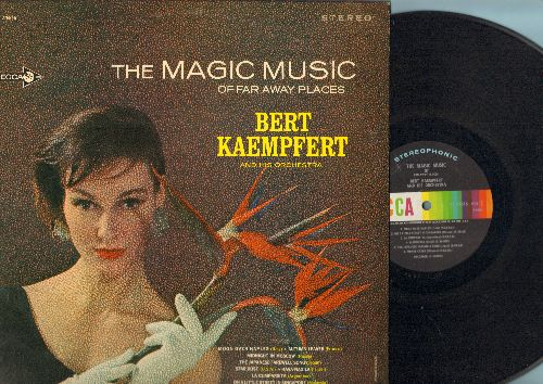 Kaempfert, Bert & His Orchestra - The Magic Music Of Far Away Places: Moon Over Naples (Spanish Eyes), Japanese Farewell Song, Hava Nagila (Vinyl STEREO LP record) - VG7/NM9 - LP Records