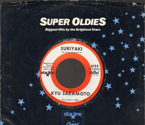 Sakamoto, Kyu - Sukiyaki/Tankobushi (FANTASTIC flip-side!) (re-issue with Capitol company sleeve) - NM9/ - 45 rpm Records