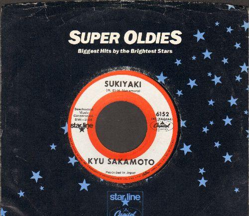 Sakamoto, Kyu - Sukiyaki/Tankobushi (FANTASTIC flip-side!) (re-issue with Capitol company sleeve) - NM9/ - 45 rpm Records