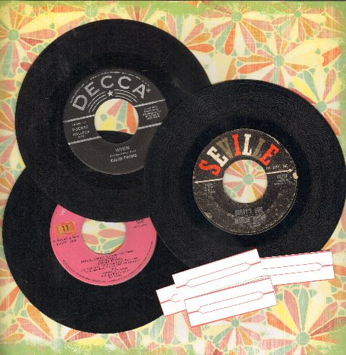 Blane, Marcie, Kalin Twins, Edd Byrnes & Connie Stevens - Teen Trio: 3 first pressing 45s includes hits Kookie Kookie Lend Me Your Comb/Bobby's Girl/When. Shipped in plain paper sleeves with 4 blank juke box labels. - VG7/ - 45 rpm Records