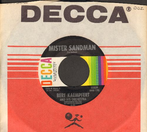 Kaempfert, Bert & His Orchestra - Mister Sandman/Lonely Is The Name (with Decca company sleeve) - NM9/ - 45 rpm Records