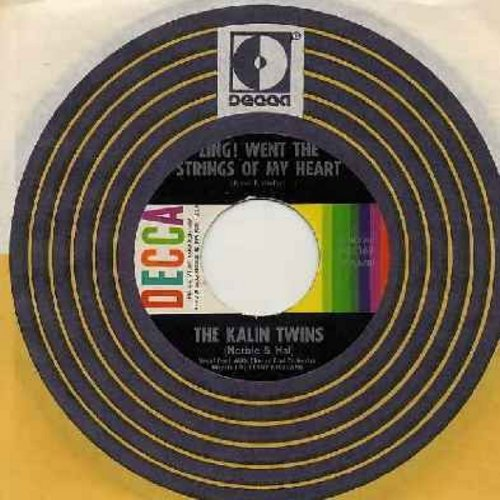 Kalin Twins - Zing! Went The Strings Of My Heart (FANTASTIC Rock & Roll Version of the Hanley Standard!)/No Money Can Buy (with Decca company sleeve) (wol) - EX8/ - 45 rpm Records