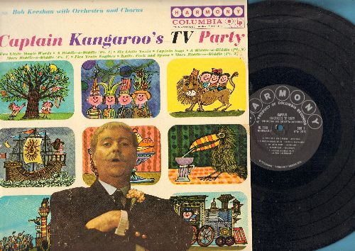 Keeshan, Bob with Orchestra & Chorus - Captain Kangaroo's TV Party: Two Little Magic Worlds, A Riddle-a-Diddle, Captain Says, Five Train Engines (vinyl MONO LP record) - EX8/VG7 - LP Records