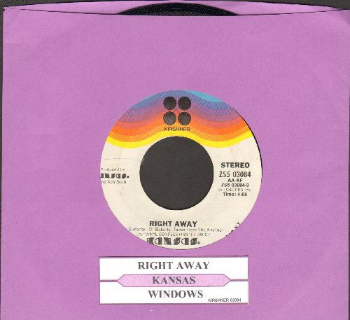 Kansas - Right Away/Windows (with juke box label) - NM9/ - 45 rpm Records