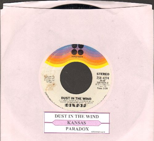 Kansas - Dust In The Wind/Paradox (with juke box label) - NM9/ - 45 rpm Records