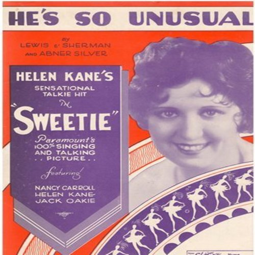 Kane, Helen - He's So Unusual - RARE Vintage SHEET MUSIC for the 1929 Novelty Record made popular by Helen Kane (This is SHEET MUSIC, NOT any other kind of media!) - EX8/ - Sheet Music