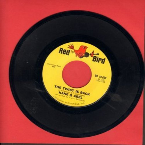Kane & Abel - The Twist Is Back/He Will Break Your Heart - M10/ - 45 rpm Records