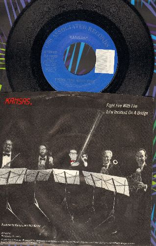 Kansas - Fight Fire With Fire/Incident On A Bridge (with picture sleeve) - NM9/VG7 - 45 rpm Records
