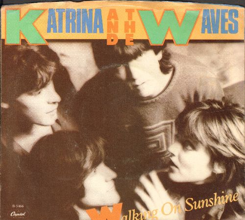 Katrina & The Waves - Walking On Sunshine/Going Down To Liverpool (with picture sleeve) - NM9/VG7 - 45 rpm Records