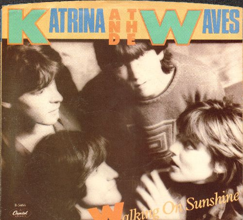 Katrina & The Waves - Walking On Sunshine/Going Down To Liverpool (with picture sleeve) - NM9/EX8 - 45 rpm Records
