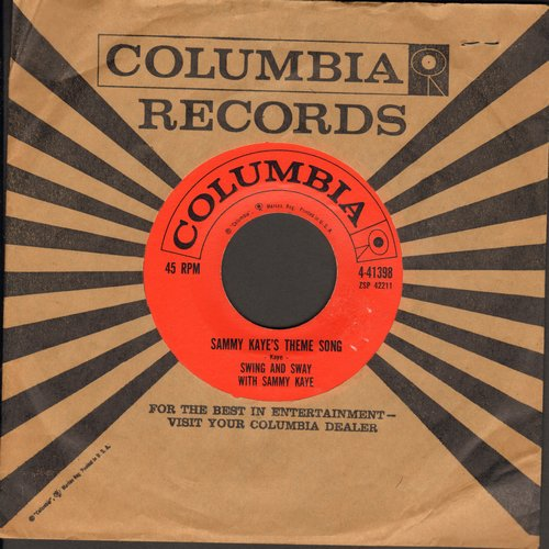 Kaye, Sammy - Sammy Kayes Theme Song/Until Tomorrow (with Columbia company sleeve) - EX8/ - 45 rpm Records