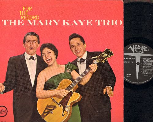 Kaye, Mary Trio - For The Record: Bill Bailey, For The First Time, Unchained Melody, September Song (vinyl MONO LP record) - NM9/NM9 - LP Records