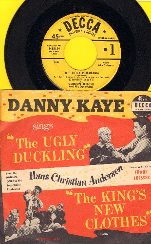 Kaye, Danny - The Ugly Duckling/The King's New Clothes (with picture sleeve) - EX8/VG6 - 45 rpm Records
