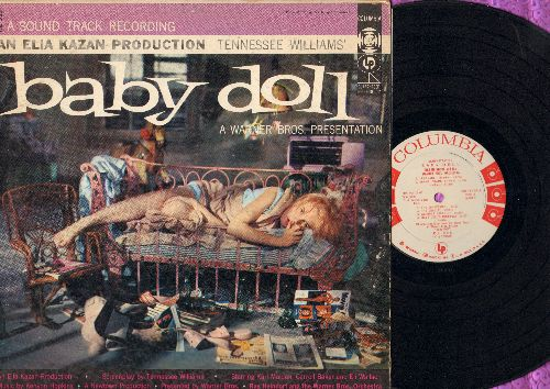 Heindorf, Ray & Warner Brothers Orchestra & Chorus - Baby Doll - Original Soundtrack, Jazz Score by Ray Heindorf with The Warner Brothers Orchestra and Smiley Lewis (Vinyl MONO LP record, RARE DJ advance pressing) - EX8/VG6 - LP Records