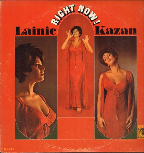 Kazan, Lainie - Right Now!: Blues In The Night, Danny Boy, Blue Skies, My Man's Gone Now, I Cried For You (Vinyl MONO LP record) - NM9/EX8 - LP Records