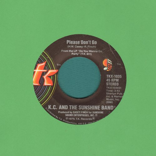 K.C. & The Sunshine Band - Please Don't Go/I Betcha Didn't Know That - EX8/ - 45 rpm Records