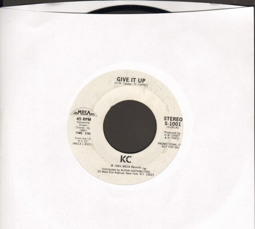 K.C.  - Give It Up (FANTASTIC Disco Hit!)/Uptight (DJ advance pressing) - NM9/ - 45 rpm Records