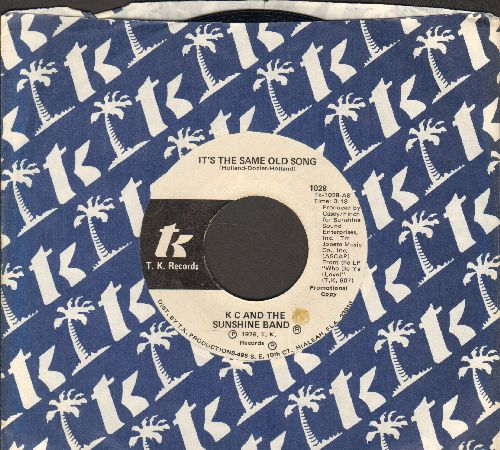 K.C. & The Sunshine Band - It's The Same Old Song/Let's Go Party (DJ advance pressing with company sleeve) - NM9/ - 45 rpm Records