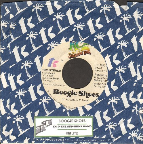 K.C. & The Sunshine Band - Boogie Shoes/I Get Lifted (with juke box label and company sleeve) - NM9/ - 45 rpm Records