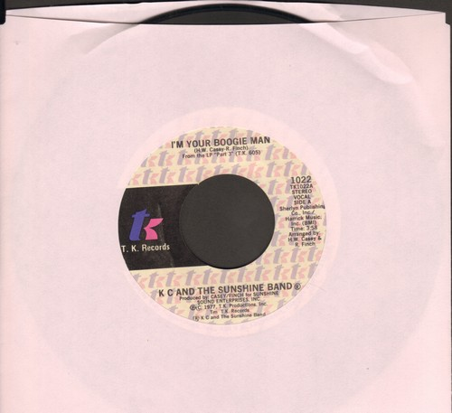 K.C. & The Sunshine Band - I'm Your Boogie Man/Wrap Your Arms Around Me - VG7/ - 45 rpm Records