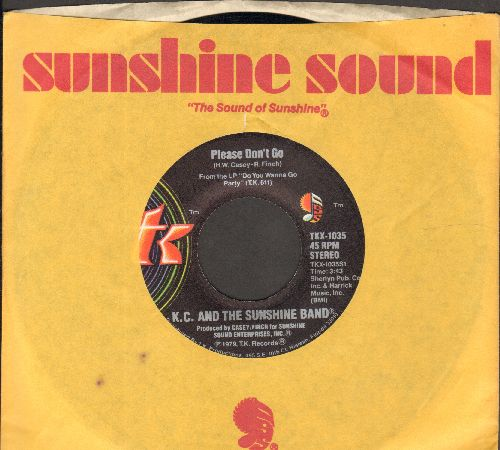 K.C. & The Sunshine Band - Please Don't Go/I Betcha Didn't Know That (with RARE Sunshine Sound company sleeve) - NM9/ - 45 rpm Records