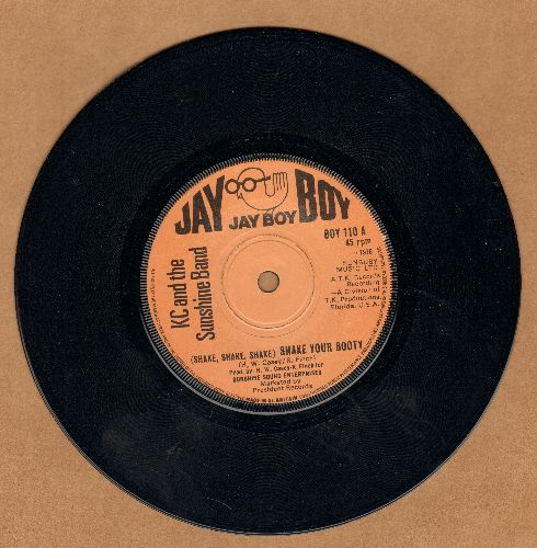K.C. & The Sunshine Band - (Shake, Shake, Shake) Shake Your Booty/I'm A Pushover (British Pressing with small spindle hole) - NM9/ - 45 rpm Records