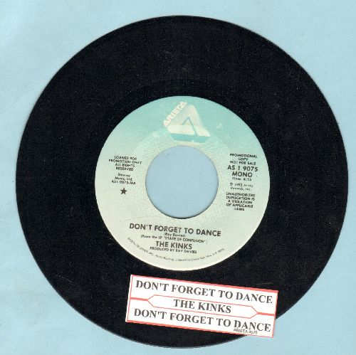 Kinks - Don't Forget To Dance (double-A-sided DJ advance pressing with juke box label) - NM9/ - 45 rpm Records