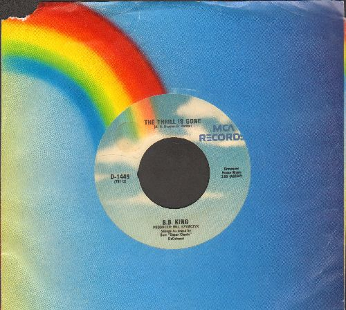 King, B. B. - The Thrill Is Gone/So Excited (re-issue with company sleeve) - EX8/ - 45 rpm Records