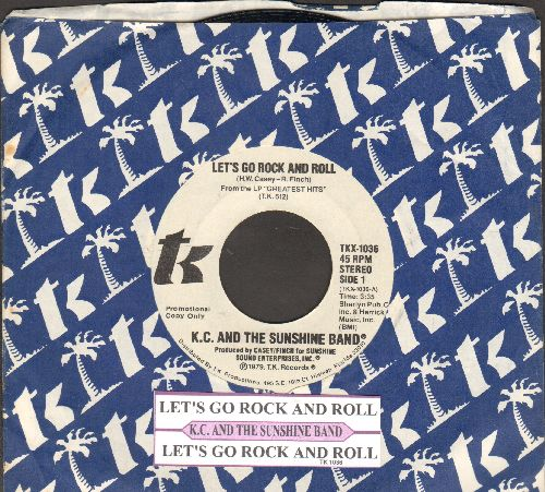 K.C. & The Sunshine Band - Let's Go Rock And Roll (double-A-sided DJ copy with juke box label and company sleeve) - NM9/ - 45 rpm Records