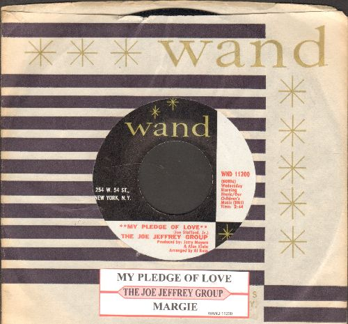 Jeffrey, Joe Group - My Pledge Of Love/Margie (with juke box label and Wand company sleeve) - NM9/ - 45 rpm Records