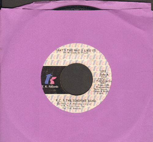 K.C. & The Sunshine Band - That's The Way (I Like It)/What Makes You Happy  - VG6/ - 45 rpm Records