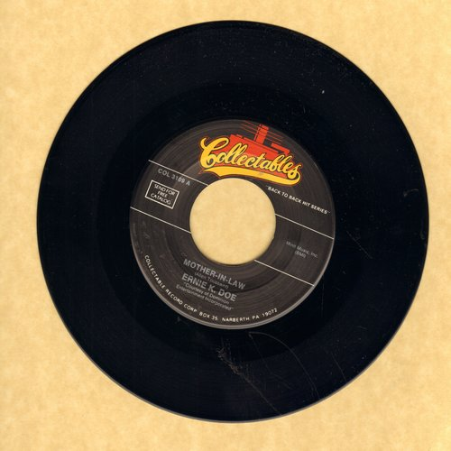 K-Doe, Ernie - Mother-In-Law/Rockin Little Angel (by Ray Smith on flip-side) (re-issue) - NM9/ - 45 rpm Records