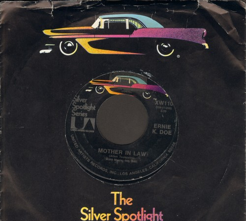K-Doe, Ernie - Mother In Law/A Wonderful Dream (by The Majors on flip-side) (re-issue with company sleeve) - EX8/ - 45 rpm Records