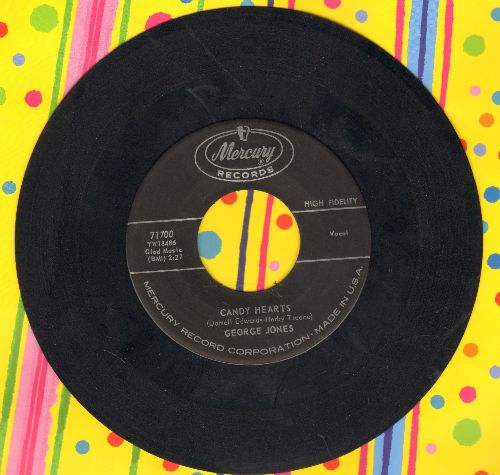 Jones, George - Candy Hearts/The Window Up Above - EX8/ - 45 rpm Records