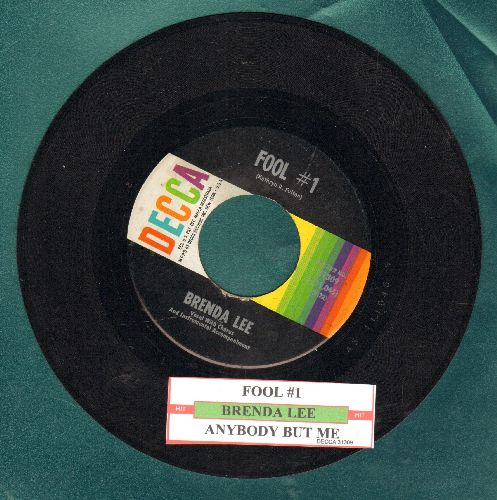 Lee, Brenda - Fool # 1/Anybody But Me (with juke box label) - NM9/ - 45 rpm Records