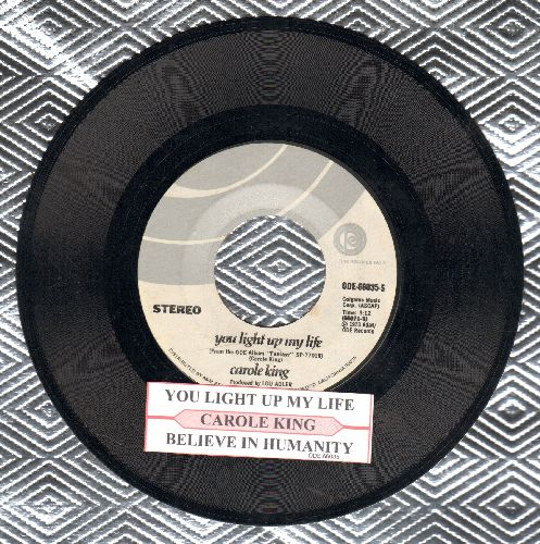 King, Carole - You Light Up My Life/Believe In Humanity (with juke box label) - NM9/ - 45 rpm Records