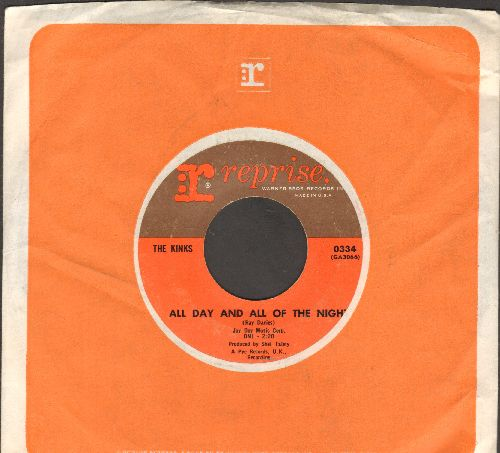 Kinks - All Day And All Of The Night/Tired Of Waiting For You (with Reprise company sleeve) - NM9/ - 45 rpm Records