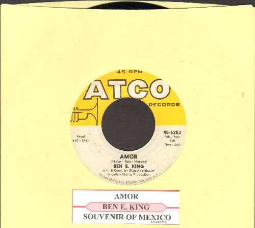 King, Ben E. - Amor/Souvenir of Mexico (with juke box label) - EX8/ - 45 rpm Records