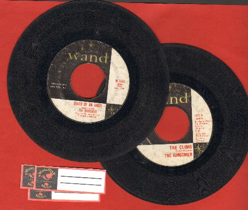 Kingsmen - 2 first pressing 45s for the price of one: Death Of An Angel/The Climb (shipped in plain paper sleeves with 3 blank juke box labels) - VG7/ - 45 rpm Records